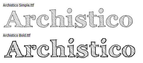 两款手写英文字体Archistico Simple.ttf、Archistico Bold.ttf