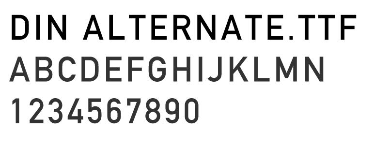 英文字体下载DIN Alternate.ttf