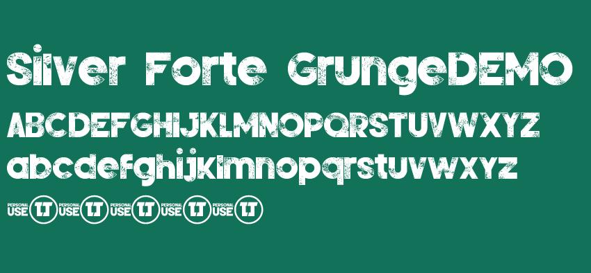 一款黑板粉笔效果的英文字体Silver Forte GrungeDEMO
