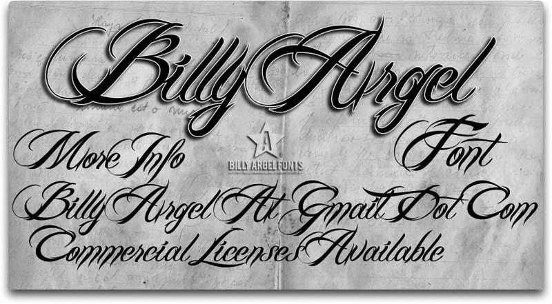 一款手写英文字体下载BILLY_ARGEL_FONT