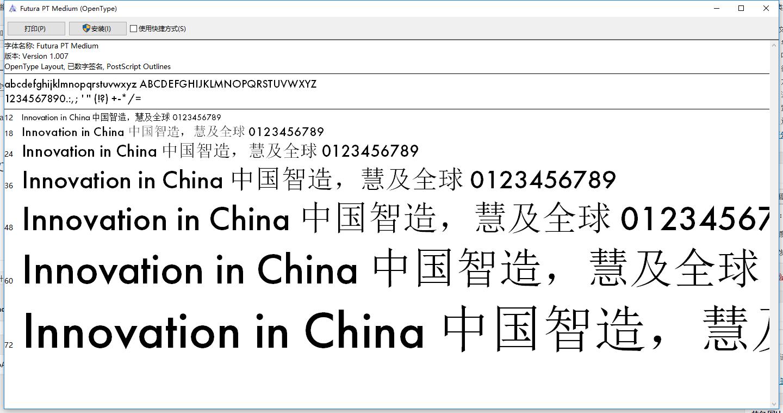 一款不错的英文字体下载Futura PT Medium.otf