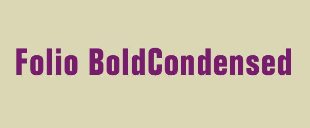 英文字体Folio_Bold_Condensed.ttf