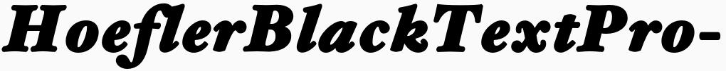 一款英文字体HoeflerBlackTextPro-BoldItalic