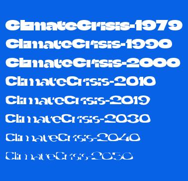 The Climate Crisis Font(气候危机字体)